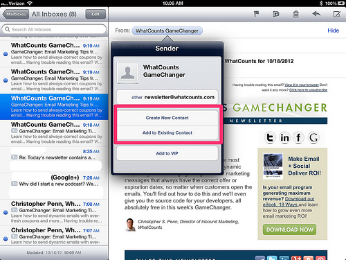 The Apple set up screen